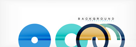 Geomtric modern backgrounds, rings abstract template, vector illustration Banque d'images - 110135236