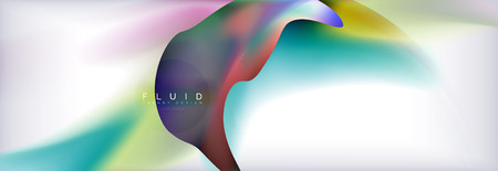 Abstract background holographic liquid colors design, vector wave template