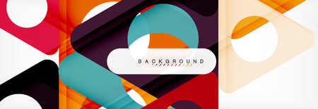 Geometric background, circles and triangles shapes banner. Vector illustration for business brochure or flyer, presentation and web design layout