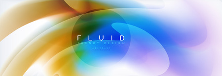 Background abstract holographic fluid colors wave design, vector EPS10