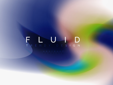Background abstract color flow, liquid design, vector