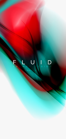 Color flowing wave, trendy liquid design template. For presentation, internet poster or web brochure cover, wallpaper. Vector illustration