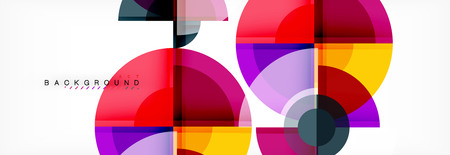 Circle abstract background, vector illustration