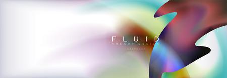 Abstract background holographic liquid colors design, vector wave template Reklamní fotografie - 109918680