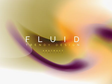 Background abstract fluid colors design, vector trendy template