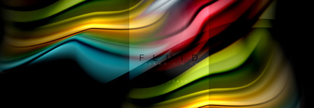Rainbow fluid abstract shapes, liquid colors design, colorful marble or plastic wavy texture background, multicolored template for business or technology presentation or web brochure cover design, vector wallpaper