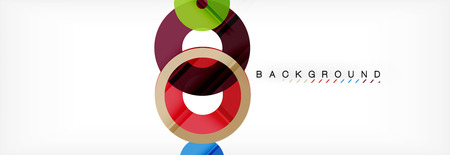 Geomtric modern backgrounds, rings abstract template, vector illustration Banque d'images - 109860818