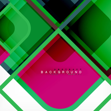 Abstract background, square shapes geometric composition, vector eps10 illustration Vettoriali