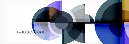 Vector fantastic circle modern geometric background template, abstract illustration Vektoros illusztráció