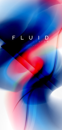 Mixing liquid color flow abstract background. Trendy abstract layout template for business or technology presentation, internet poster or web brochure cover, wallpaper Ilustração
