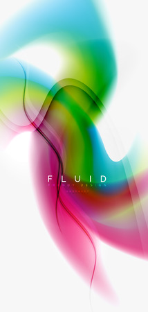Mixing liquid color flow abstract background. Trendy abstract layout template for business or technology presentation, internet poster or web brochure cover, wallpaper. Vector illustration Vector Illustratie