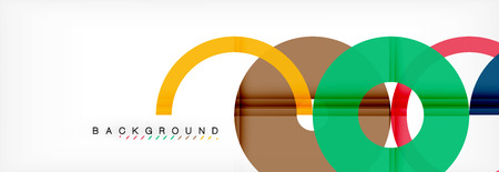 Geomtric modern backgrounds, rings abstract template, vector illustration