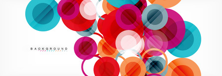 Overlappende cirkels ontwerpen achtergrond. Trendy abstracte lay-outsjabloon voor zakelijke of technologiepresentatie of webbrochure omslag, behang. Vector illustratie