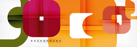 Square geometric background, multicolored template for business or technology presentation or web brochure cover layout, vector wallpaper.