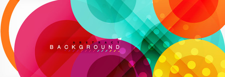 Abstract colorful geometric composition - multicolored circle background, vector illustration Ilustração