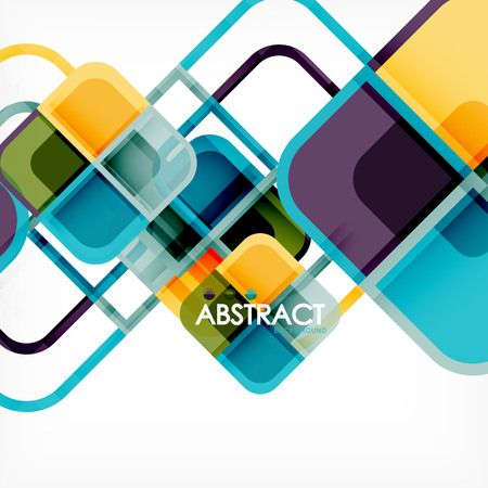 Abstract background, square shapes geometric composition, vector eps10 illustration
