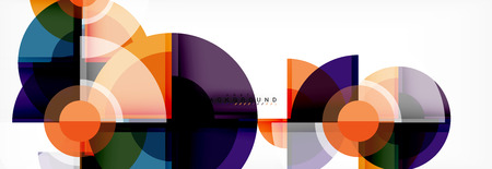 Circle abstract background, vector illustration Vetores