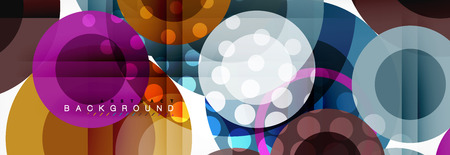 Abstract colorful geometric composition - multicolored circle background, vector illustration Ilustrace