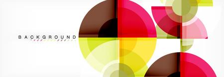 Vector fantastic circle modern geometric background template