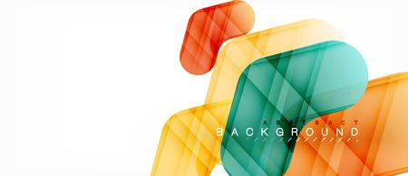 Shiny glossy arrows background, clean modern geometric design, futuristic composition Stock Illustratie