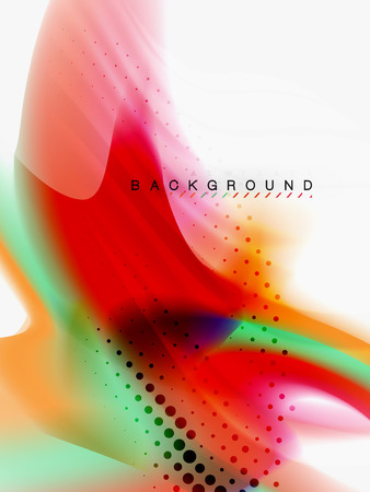 Background abstract color flow, liquid design, vector