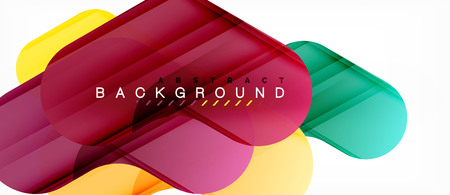 Colorful glossy arrows abstract background, clean modern geometric design Vettoriali