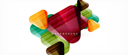 Glass triangles modern geometric composition, abstract background, vector design