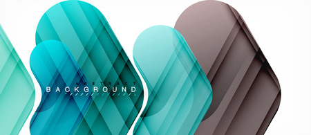Colorful glossy arrows abstract background, clean modern geometric design