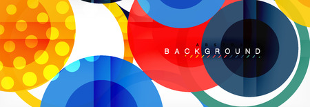 Abstract colorful geometric composition - multicolored circle background Imagens - 110233424