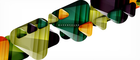 Glass triangles modern geometric composition, abstract background