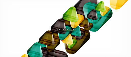 Glass triangles modern geometric composition, abstract background, vector design Stock Illustratie
