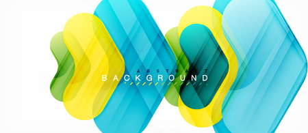 Colorful glossy arrows abstract background, clean modern geometric design Ilustração