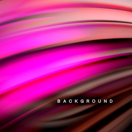 Background abstract - liquid color wave, trendy flowing design template  イラスト・ベクター素材