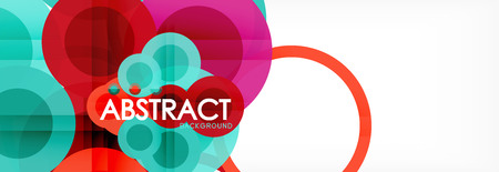 Circle composition abstract background, vector