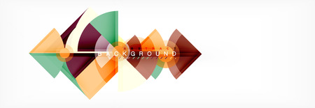 Triangles and circle geometric background, modern design