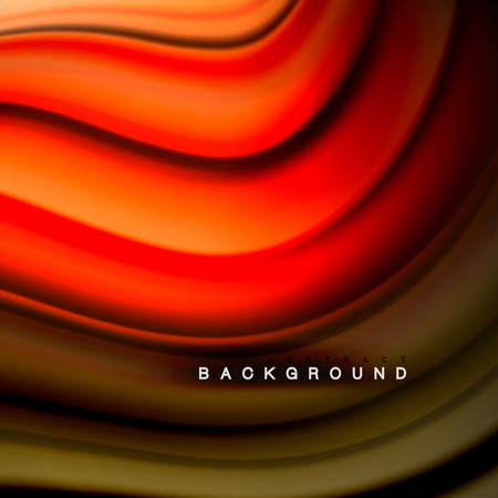 Background abstract - liquid color wave, trendy flowing design template Illustration