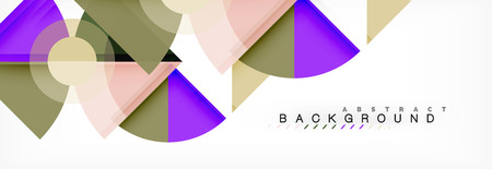 Triangles and circle geometric background
