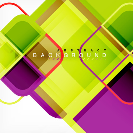 Abstract background, square shapes geometric composition Vector Illustration