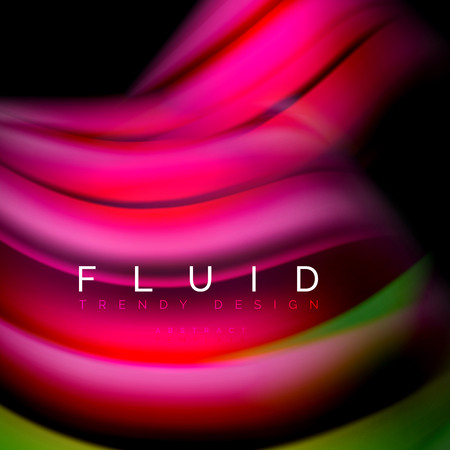 Background abstract - liquid color wave, trendy flowing design template 일러스트