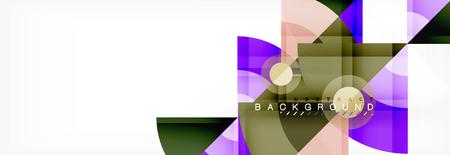 Triangles and circle geometric background Vektoros illusztráció