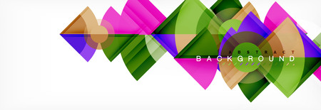 Triangles and circle geometric background, modern design