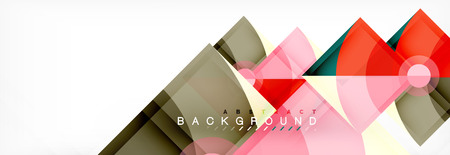 Modern geometric abstract background, vector trendy design
