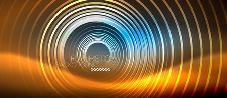 Neon glowing circles background