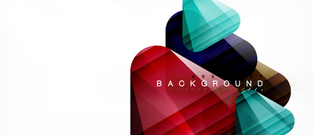 Geometric abstract background, triangles, trendy layout template for business or technology presentation or web design cover, wallpaper. Vector illustration
