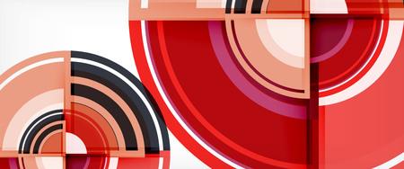 Sfondo astratto cerchio, modello di design moderno circolare geometrico, illustrazione vettoriale Vettoriali