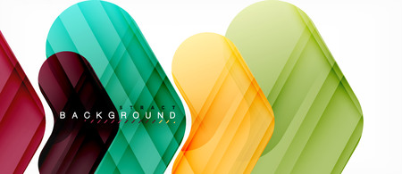 Colorful glossy arrows abstract background, clean modern geometric design Illustration