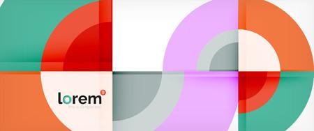 Circle abstract background, geometric circular modern design template, vector illustration Vector Illustration