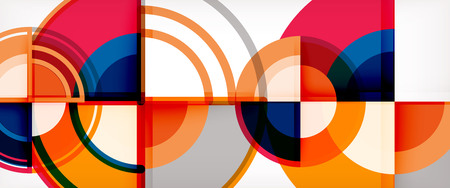 Vector abstract colorful circles background. Trendy layout template for business or technology presentation or web brochure cover, wallpaper. Vector illustration Illustration