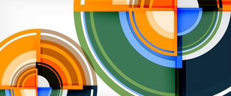 Circle abstract background, geometric circular modern design template, vector illustration