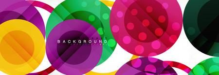 Overlapping circles design background Vettoriali